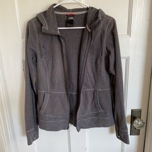The North Face women's gray fleecy jacket size M